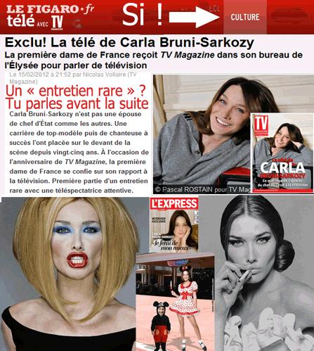 Carla Bruni en campagnarde, pas gratuit !