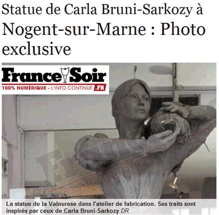 France Soir révèle la statuesque Carlita