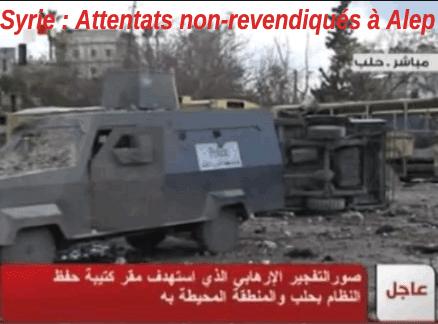 Attentats à Alep : « mise en scène du régime »