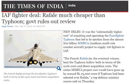 Rafale indiens : et l'argent… et la Suisse ?