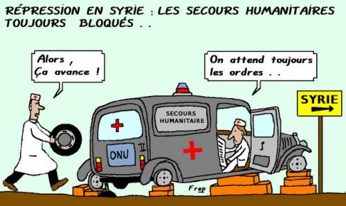 Répression  en Syrie : les secours humanitaires sont toujours bloqués !