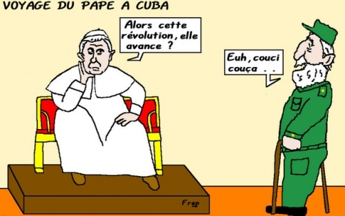 Le  Pape  à  Cuba