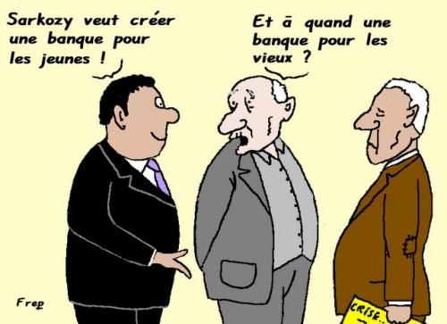 Sarkozy veut créer une banque pour les jeunes . .