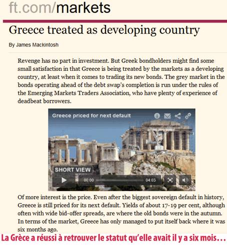 La faillite de la Grèce repoussée… à plus tard