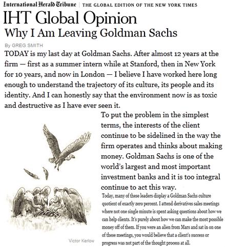 Banksters : Goldman Sachs démystifiée