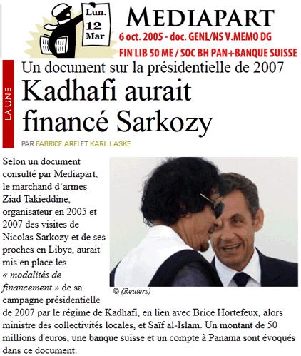2005 : QUAND LES KADHAFI FINANCENT « NS »