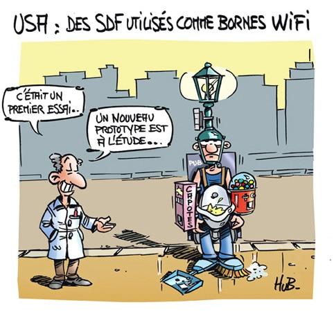 Des SDF transformés en bornes WIFI