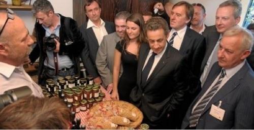 Sarkozy en campagne s'intéresse aux pois chiches…