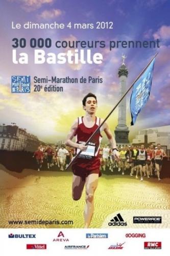 Record de participants au départ du semi-marathon de Paris.