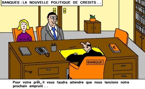 Banques  :  la  nouvelle  politique  de  crédits . .