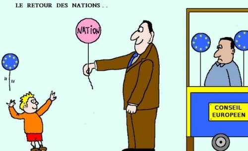 EUROPE :  LE  RETOUR  DES  NATIONS . .