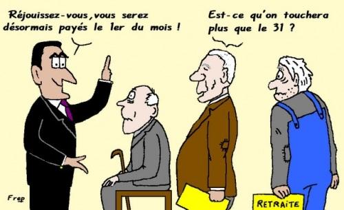 Sarkozy  et  la nouvelle  retraite  des  vieux  !