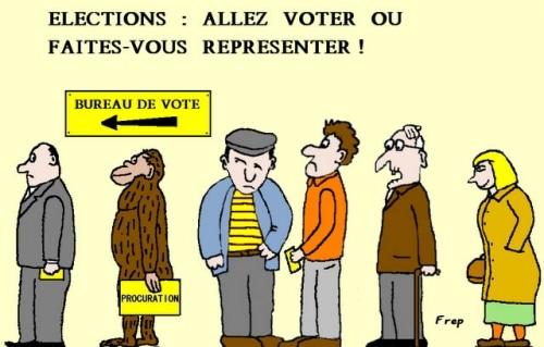ELECTIONS : ALLEZ  VOTER  OU  FAITES-VOUS  REPRESENTER  !