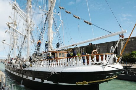 Le Belem fait escale au port de La Rochelle