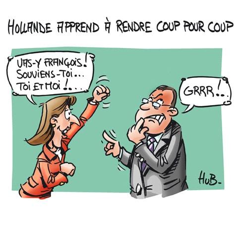 Hollande apprend à rendre coup pour coup