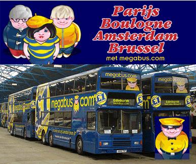 Paris-Londres : en bus, à petit budget, avec Megabus