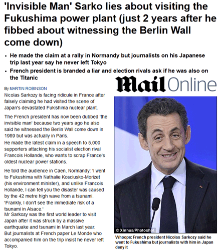Sarkozy ridiculise la France (bis)