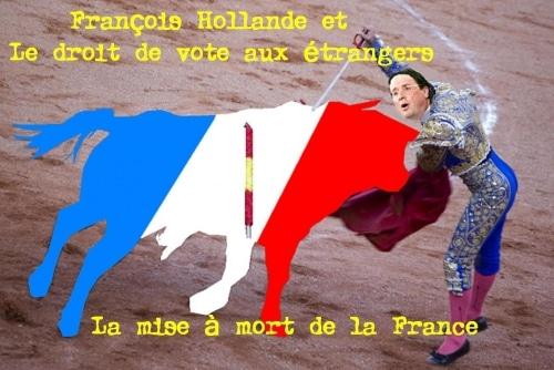 François Hollande et le droit de vote des étrangers en France