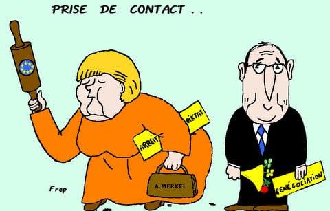 Hollande-Merkel : une prise de contact prometteuse . .