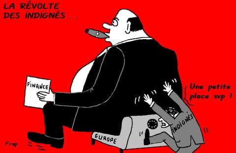 La  révolte  des  indignés  . .