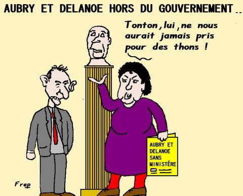Aubry  et  Delanoé  hors  du  gouvernement . .