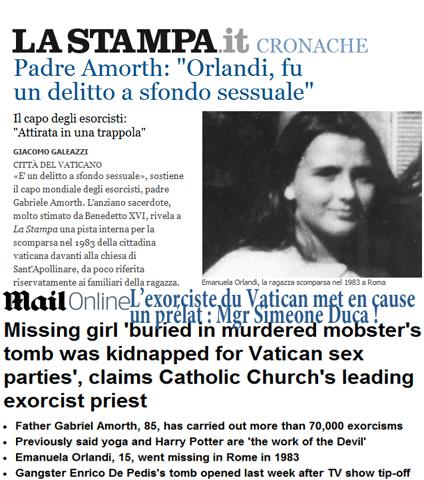 Scandale au Vatican : viol et meurtre sur mineure