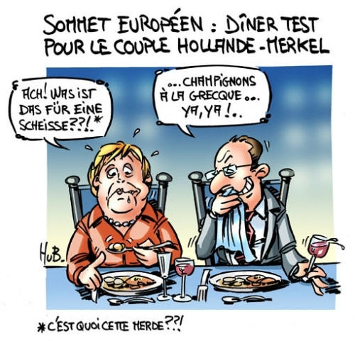 Le couple Hollande-Merkel à Bruxelles