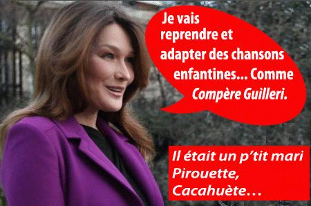 Carla Bruni, le retour : on aurait dû voter Nicolas !