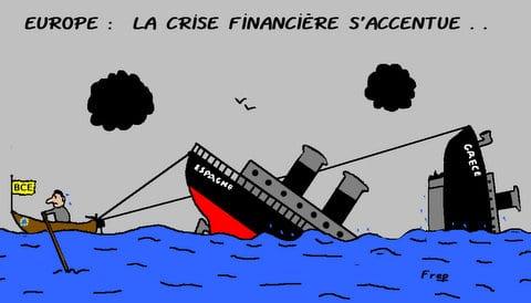 Europe :  la  crise  financière s'aggrave . .