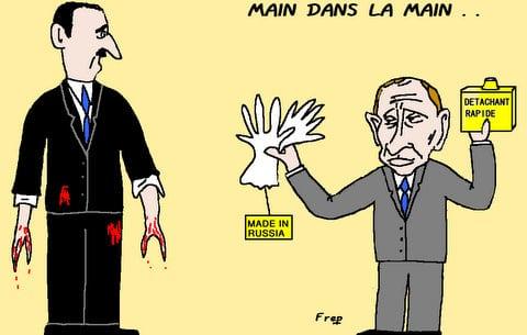 La  Russie   main  dans  la  main  avec la  Syrie . .