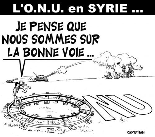 L'ONU en Syrie …