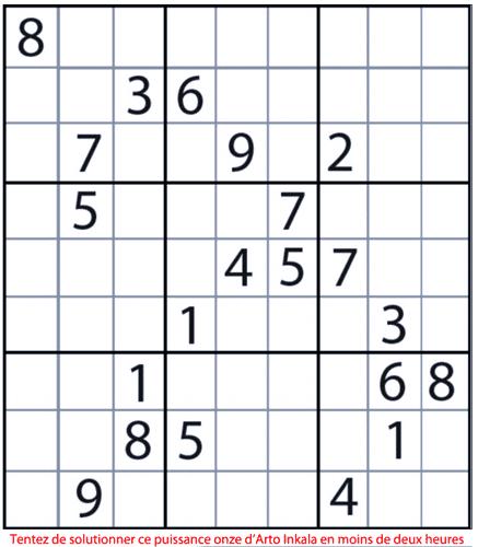 Pire que diabolique, le Sudoku infernal puissance onze
