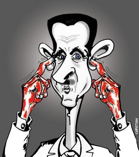 BACHAR EL ASSAD …»le bouché» de Damas