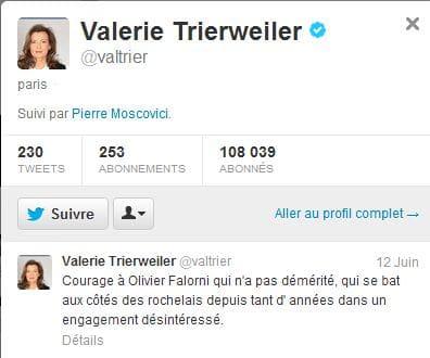 Valérie Trierweiler casse les codes.