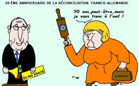 50éme  anniversaire de  la  réconciliation  franco-allemande