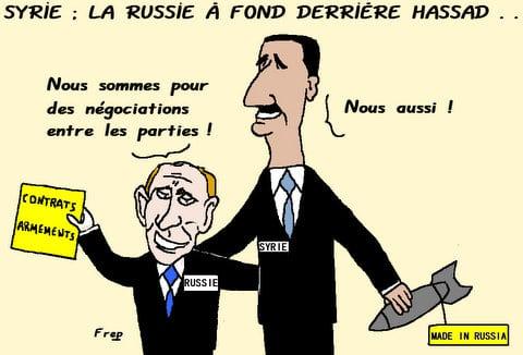 Syrie  :  la  Russie  à  fond  derrière  Hassad . .