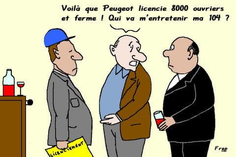 Peugeot :  licenciement et entretien . .