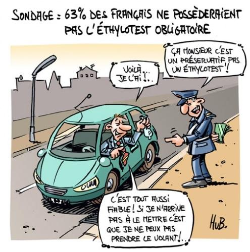 63% des français se passeraient de l'éthylotest