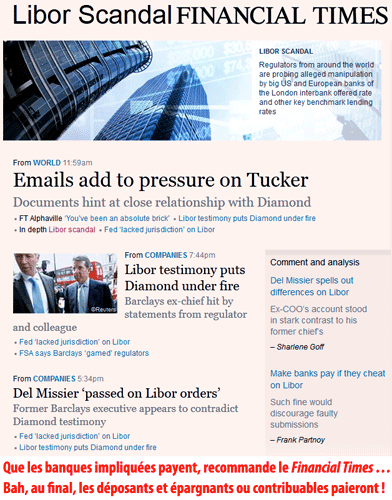 Liborgate : la BoE n'avait rien vu venir…