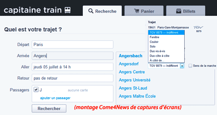 Vos billets SNCF, DB, &c. avec Capitaine Train