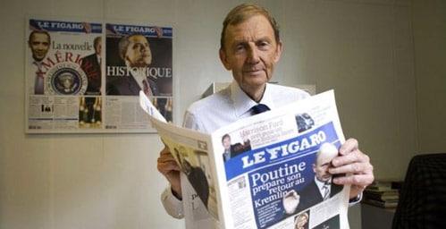 Le Figaro se sépare d'Etienne Mougeotte.