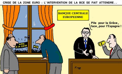 Crise  de  la  zone  euro  :  l'intervention  de  la BCE  se  fait  attendre  !