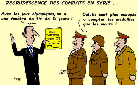 Recrudescence  des  combats  en  Syrie . .