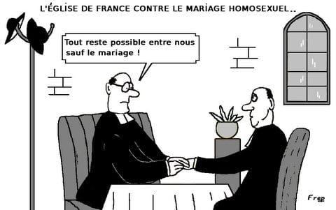L'Eglise  de  France  contre  le  mariage  homosexuel . .