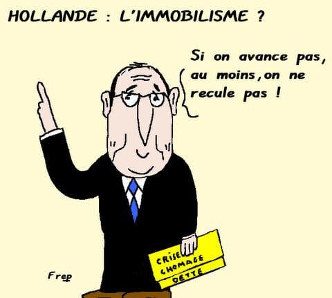Hollande  :  l'immobilisme  ?