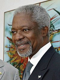 Kofi Annan – le prix Nobel de la paix jette l'éponge