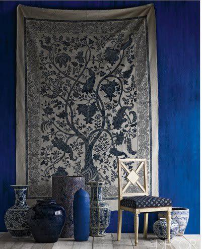 Le bleu indigo et la decoration