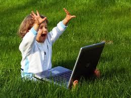 L 'enfant et le danger d'internet