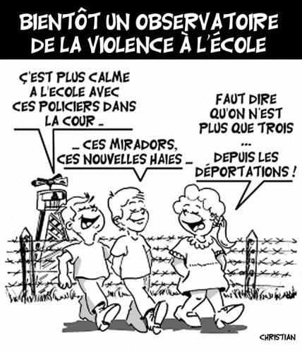 OBSERVER LA VIOLENCE ….