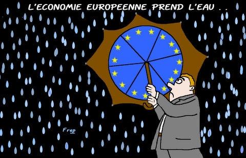 L'économie  européenne  prend  l'eau  . .